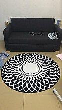 Runde Teppich Teppich Fitness Yoga Teppich Computer Stuhl Kissen Schlafzimmer Wohnzimmer Bedside Teppich ( Farbe : B , größe : Diameter 160CM )