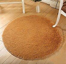 Runde Teppich Wohnzimmer Fitness Yoga Matten Korb Drehstuhl Computer Stuhl Matte Teppich Schlafzimmer Nachttisch Casual Decke Teppich ( größe : Diameter 140cm )