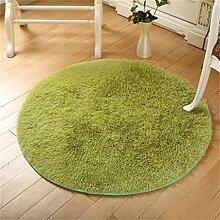 Runde Teppich Wohnzimmer Fitness Yoga Matten Korb Drehstuhl Computer Stuhl Matte Teppich Schlafzimmer Nachttisch Casual Decke Teppich ( größe : Diameter 80cm )