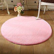 Runde Teppich Wohnzimmer Fitness Yoga Matten Korb Drehstuhl Computer Stuhl Matte Teppich Schlafzimmer Nachttisch Casual Decke Teppich (rosa) ( größe : Diameter 200cm )