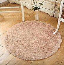 Runde Teppich Wohnzimmer Fitness Yoga Matten Korb Drehstuhl Computer Stuhl Matte Teppich Schlafzimmer Nachttisch Lässige Decke Teppich (Beige) ( größe : Diameter 140cm )
