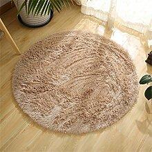 Runde Teppich Wohnzimmer Schlafzimmer Couchtisch Yoga Fitness Computer Stuhl Matten ( Farbe : F , größe : 120CM )