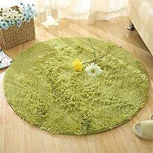 Runde Teppich Wohnzimmer Schlafzimmer Couchtisch Yoga Fitness Computer Stuhl Matten ( Farbe : A , größe : 120CM )