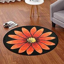 Runde Teppich Wohnzimmer Schlafzimmer Garderobe Couchtisch Teppich Runde Hocker Drehstuhl Stuhl Computer Stuhl Hängende Korb Matte ( Farbe : #5 , größe : Diameter-140CM )
