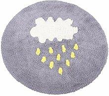 Runde Teppich Wolke Regen Baumwolle 2 Farben
