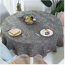 Runde Tischdecke Aus Baumwolle Und Leinen Für Die