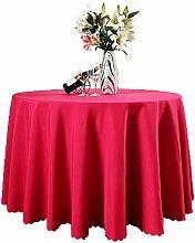Runde Tischdecke aus Polyester, fleckenresistent,