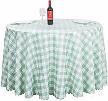 Runde Tischdecke aus Polyestergewebe - Karierter