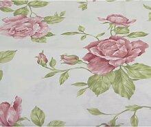 runde Tischdecke BANGOR ROSEN Ø 170cm weiß rosa