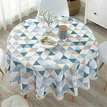 Runde Tischdecke Baumwolle/Baumwolle Mischung