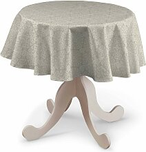 Runde Tischdecke, beige, Ø 135 cm, Flowers