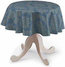 Runde Tischdecke, blau, Ø 135 cm, Damasco