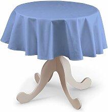 Runde Tischdecke, blau, Ø 135 cm, Loneta