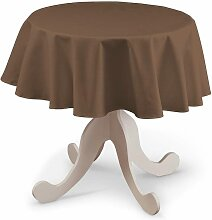 Runde Tischdecke, braun, Ø 135 cm, Loneta