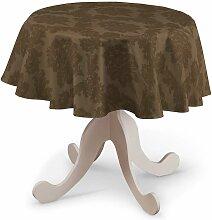 Runde Tischdecke, braun , Ø 135 cm, Damasco