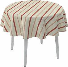 Runde Tischdecke, creme- rot, Ø 135 cm, Avinon