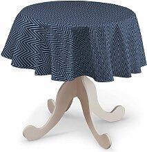 Runde Tischdecke, dunkelblau, Ø 135 cm, Brooklyn