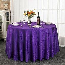Runde tischdecke.einfache moderne familie tischtuch.fashion printing home garden tisch tuch hochzeit restaurant hotel runden tischdecke.mehrere farben.purple-Lila Durchmesser240cm(94inch)
