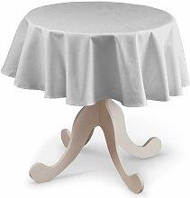 Runde Tischdecke, elfenbein , Ø 135 cm, Leinen