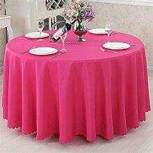 Runde Tischdecke, europäische reine Farbe