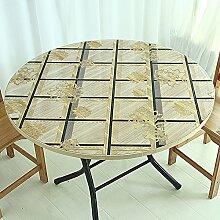 Runde Tischdecke/Farbtischdecke/Wasserdicht,PVC,Plastik Weiche Glas Tischmatte/Coffee Table Pad Tischdecke/Einweg-tischdecke-C Durchmesser80cm(31inch)