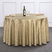 Runde Tischdecke Für Hotels,Stoff Speisesaal Quadratische Tischdecke,Runde European-style Hochzeit Tischwäsche Tischdecken Für Den Hausgebrauch-G 140x180cm(55x71inch)