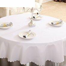 Runde tischdecke für hotels,tea table fabric tuch,fashion dinner cloth white tischtuch-B Durchmesser280cm(110inch)