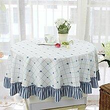 Runde tischdecke,garten tisch tuch tischtuch,einfache runde tischdecke,tischtuch-B Durchmesser260cm(102inch)