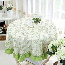 Runde Tischdecke,Garten Tisch Tuch Tischtuch,Simple Round Tischtuch Stuhl Cover Tea Tisch Tuch-A Durchmesser220cm(87inch)