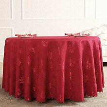 Runde tischdecke,gewebe europäischer pastoral,westlichen tischdecke,hotel tischdecke,roten tischdecke-B Durchmesser240cm(94inch)