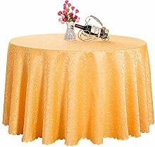 Runde Tischdecke Gold-gelb Geeignet für