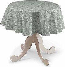 Runde Tischdecke, grau, Ø 135 cm, Flowers