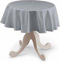 Runde Tischdecke, grau, Ø 135 cm, Jupiter