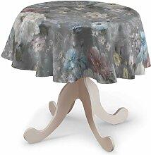 Runde Tischdecke, grau, Ø 135 cm, Monet