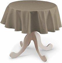 Runde Tischdecke, grau-braun , Ø 135 cm, Cotton