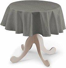 Runde Tischdecke, grau-ecru , Ø 135 cm, Quadro