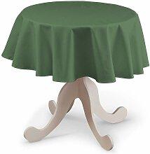 Runde Tischdecke, grün, Ø 135 cm, Loneta
