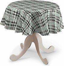 Runde Tischdecke, grün-schwarz, Ø 135 cm,
