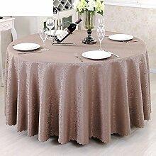 Runde tischdecke,hochzeit/restaurant/floral/[pflanze blumen]/hotel runden tischdecke.einfache moderne familie tischtuch.mehrere farben.brown-braun Durchmesser200cm(79inch)