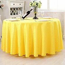 Runde tischdecke,hochzeit/restaurant/restaurant tischdecken/hotel runden tischdecke.einfache moderne familie tischtuch.mehrere farben.gelb-Gelb Durchmesser180cm(71inch)