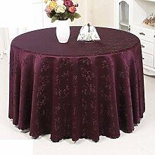 Runde tischdecke hochzeit restaurants runden tischdecke.einfache moderne familie tischtuch.mehrere farben.purple-Lila Durchmesser280cm(110inch)