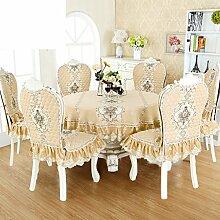 Runde Tischdecke,Kleintisch Tischdecke,Runde Tischdecke,Stoffhaus Runde Tischdecke,Kissen Und Bezüge Für Die Stühle-E 150x200cm(59x79inch)