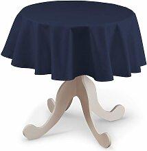 Runde Tischdecke, marinenblau, Ø 135 cm, Quadro