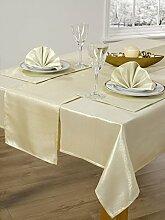 Runde Tischdecke metallischem gold 172cm