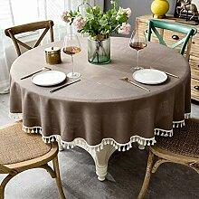 Runde Tischdecke,Mit Fransen