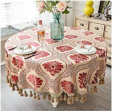Runde Tischdecke mit hängenden Spikes -