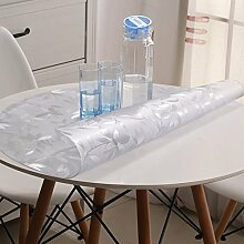 Runde Tischdecke PVC Runde Tischdecke wasserdicht Soft-Proof Glas Untersetzer klar gefrostet Kunststoff Tischdecke und wasserdicht runden Tischdecke-A Durchmesser60cm(24inch)