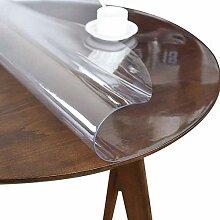Runde Tischdecke PVC Weichglas Beschützer