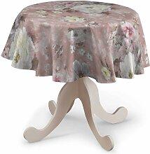 Runde Tischdecke, rosa, Ø 135 cm, Monet