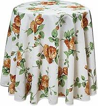 Runde Tischdecke, Rose mediterran, 180 cm, pflegeleicht von Provencestoffe